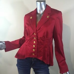 Miss Tina by Tina Knowles Red High Low Blazer